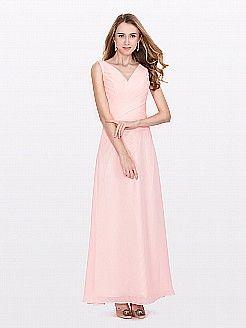 Penelop - θηκάρι λαιμόκοψη v σιφόν φορέματα κουμπάρας - EUR 97,54€