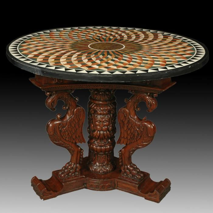 Its A Complete Marble Inlay Pietre Dure Table Top Set Table Top Size Is  150cm Dia
