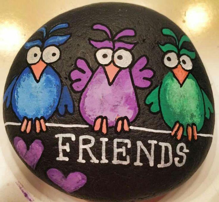 Fugle på sten