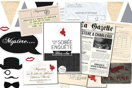 """""""Huis-clos"""": une petite enquête à la Agatha Christie pour animer la soirée du réveillon du jour de l'An... Original !"""
