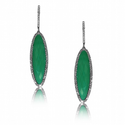 Emerald and diamond earrings from dove 39 s jewelry just for Jewelry just for fun