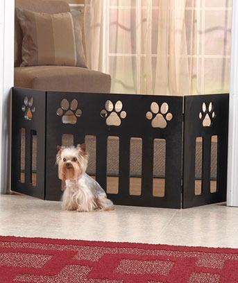 De madeira da cópia da pata do animal de estimação cerca Portão dobrável para Cat Dog Puppy | eBay