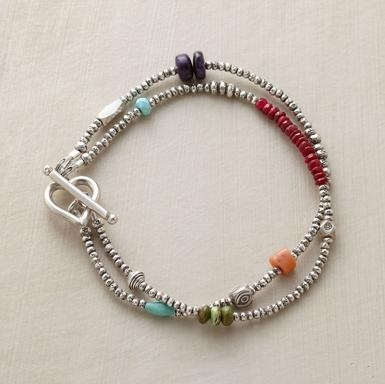 Two strand bracelet with colors
