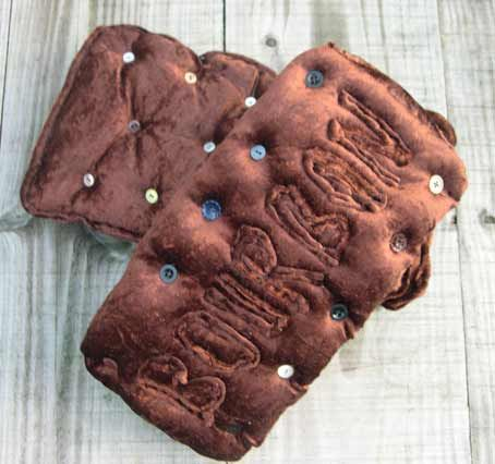 Beth Wizard Embroidery Bourbon Biscuit Cushion