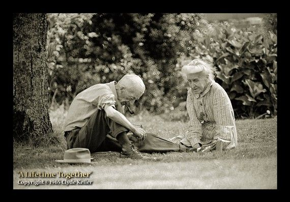 A LIFETIME TOGETHER The Old Couple On Mill Street Portland, Oregon, July 1965 Clyde Keller