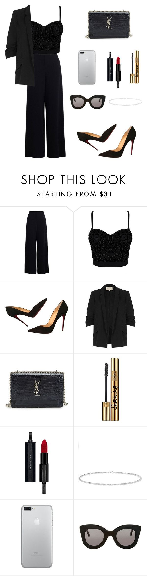 """Untitled #135"" by sonianguyen98 on Polyvore featuring Zimmermann, Christian Louboutin, River Island, Yves Saint Laurent, Givenchy, Anne Sisteron and CÉLINE"