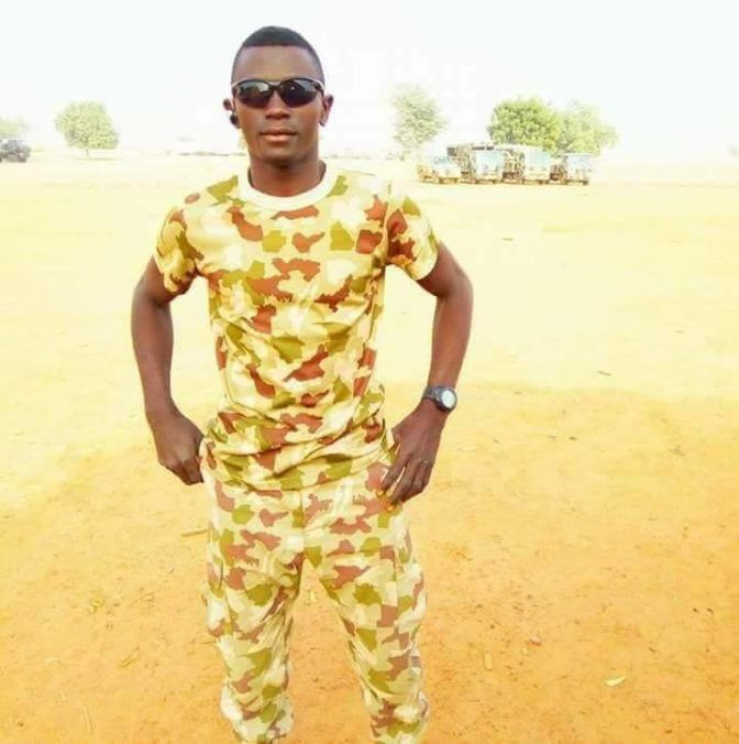 News in Pictures: Young Soldier Killed While Fighting Boko Haram Terrorists In Maiduguri