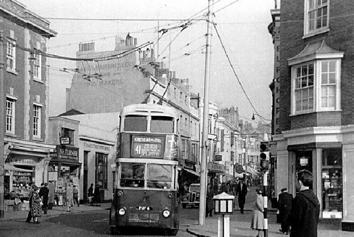 An Old Photo of a Trolley Bus in Brighton East Sussex England