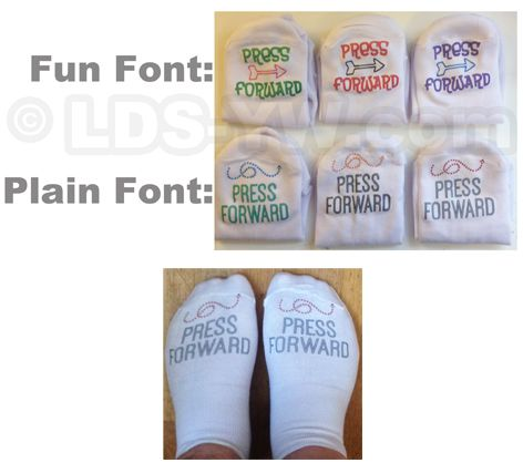 2016 mutual theme SOCKS press forward.  LDS young women.