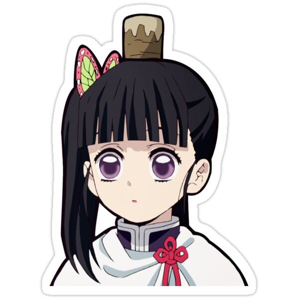 Demon Slayer Mitsuri Sticker – Her most defining feature would be her long hair usually tied in three braids.