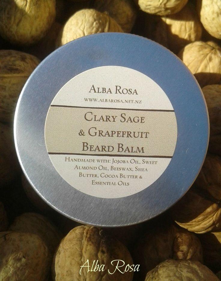 Clary Sage and Grapefruit Beard Balm - Alba Rosa