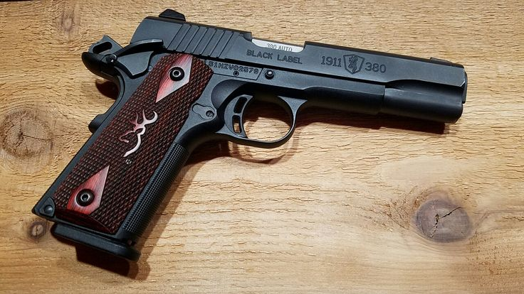 Browning 1911-380 with Browning Rosewood grips 380-ACP