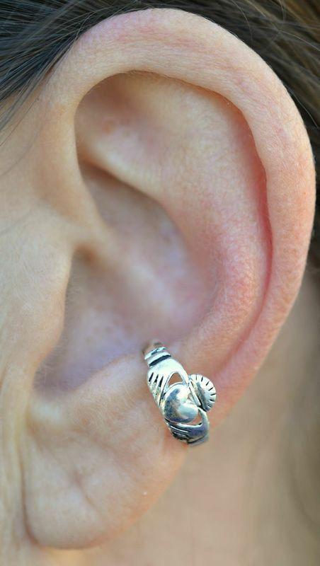 Ear Cuff Claddagh Silver, from Renaissance Festivals – Hair Twisters