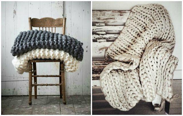 M s de 17 ideas fant sticas sobre manta gruesa en for Mantas de lana hechas a mano