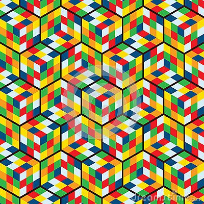 Rubbick Pattern Vector For Background, Wallpaper, Floor Design and Decoration