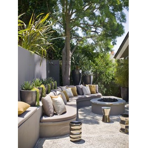 Built in courtyard furniture