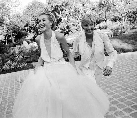 Group of: Ellen and Portia's Wedding Day - Ellen Degeneres Photo ...