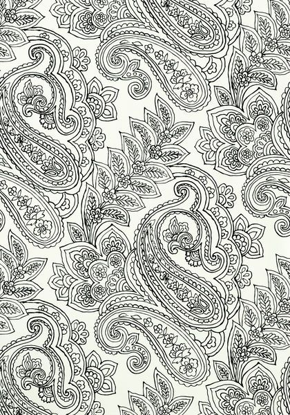 Serendipity Paisley Wallpaper In White And Black The Updates A Classic With Sophisticated Floral