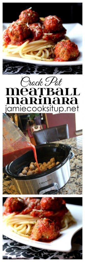 Crock Pot Meatball Marinara from Jamie Cooks It Up!
