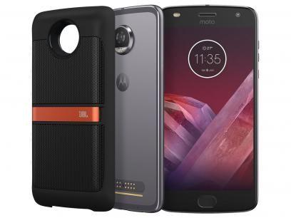 Smartphone Motorola Moto Z2 Play Sound Edition - 64GB Platinum Dual Chip 4G Câm. 12MP + Selfie 5MP com as melhores condições você encontra no Magazine Savida. Confira!