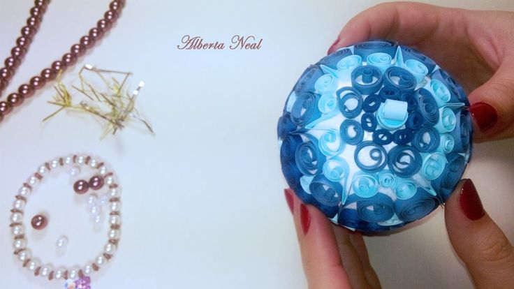 Free video tutorial: #Christmas #Decoration with #quilling - Alberta Neal
