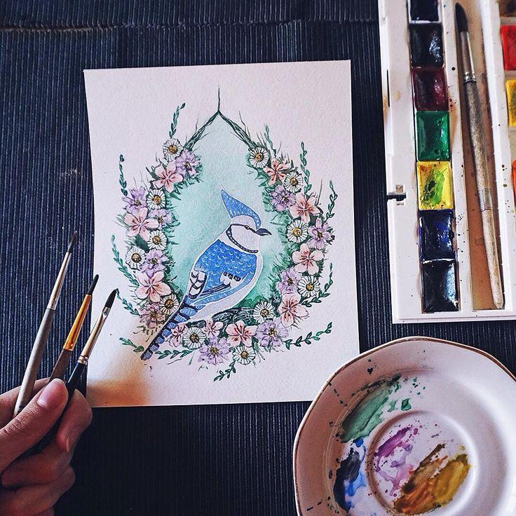 Something gentle and romantic. 🌸 more: #atomorfen_illustration Что-то нежное и романтичное.