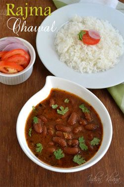 Rajma Masala or Rajma Chawal is popular Punjabi curry with red kidney beans and spices, a great comfort food. Rajma curry recipe is easy to make perfect side dish with roti/rice