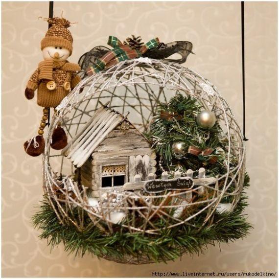 Gallery.ru / шары из ниток с новогодними композициями - Всяко разно - irinaz777