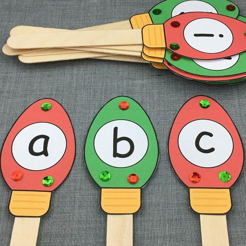 christmas alphabet sequence for preschool and kindergarten