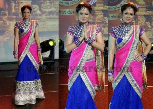 Shilpa Chakravarthy High Neck Blouse | Saree Blouse Patterns