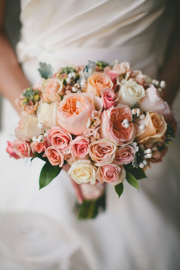 Peach Garden Rose Bouquet 190 best garden rose cut flowers for weddings images on pinterest