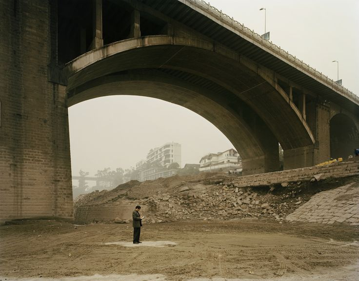 """Yibin II (Counting Receipts), Sichuan Province.  From Nadav Kander's """"Yangtze: The Long River,"""" A photo essay on China's longest river.  © 2010 Nadav Kander."""