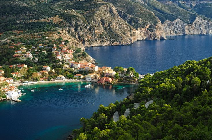 The view from Assos chapel in Kefalonia island! A perfect picturesque venue !
