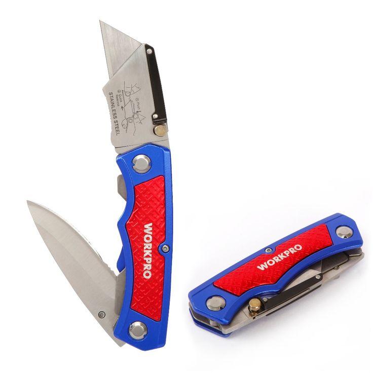 Workpro twin pisau utilitas pisau aluminium handle folding pisau woodworking multi alat