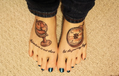 I want this quote adventure is out there let the journey for Adventure is out there tattoo
