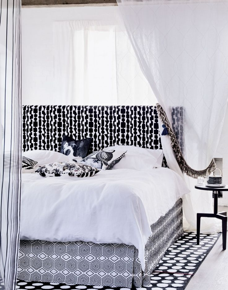 Need Modern Bedroom Decorating Ideas? Take A Look At This Modern Bedroom  With Striking Monochrome Fabrics For Decorating Inspiration. Find More  Bedroo Home Design Ideas