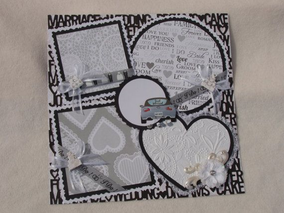Wedding Bride Just Married Groom I Do 12x12 Premade Scrapbook Page by KARI245 best Scrapbook   Wedding images on Pinterest   Scrapbooking  . Premade Wedding Scrapbook. Home Design Ideas