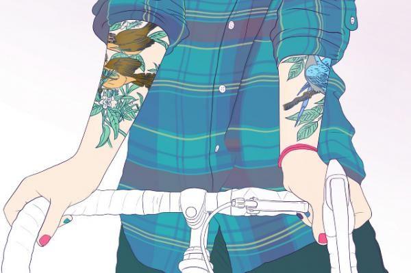 Ilustraciones de chicas tatuadas por Francis Kmiecik
