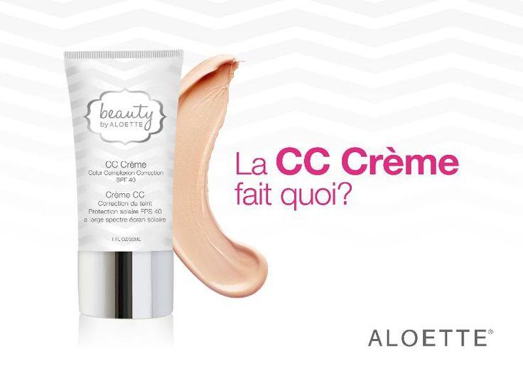 une nouveauté chez aloette, la cc crème avec une légète teinte!!!!  #aloetteholiday