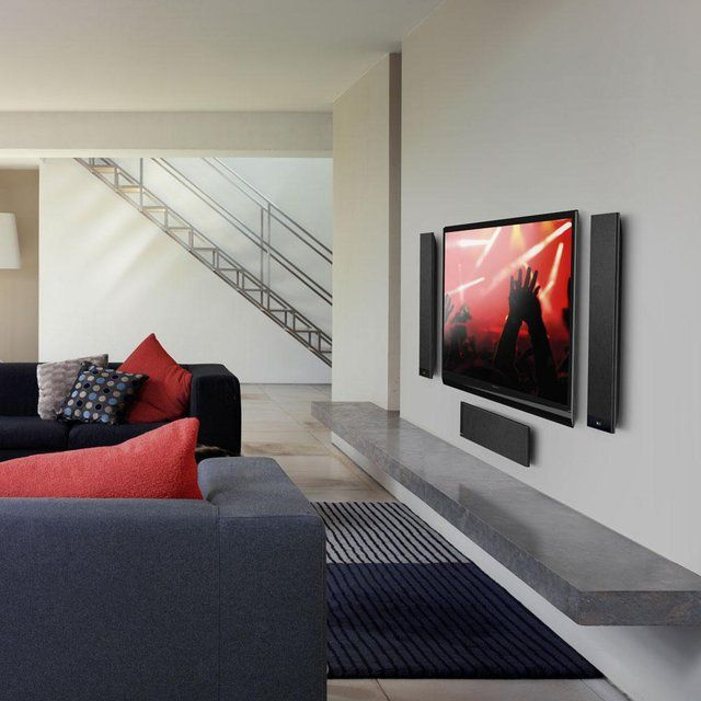 Wall mounted home theatre