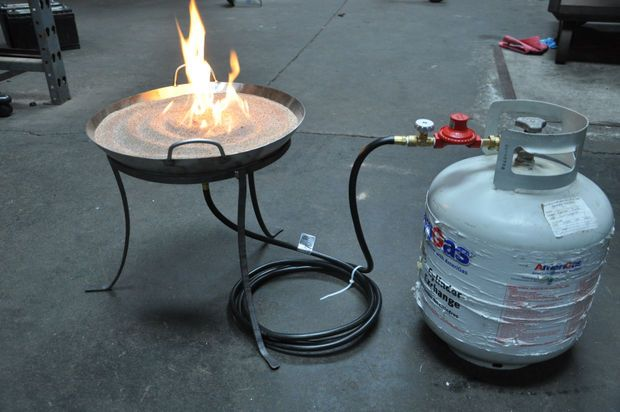 instructables for making a propane sand fire pit