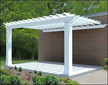 Pergola connected to the house