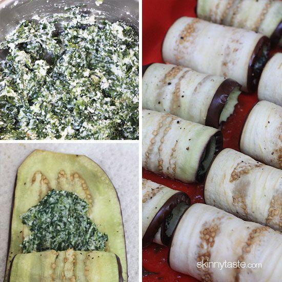 Best Skinny Eggplant Rollatini with Spinach   Skinnytaste