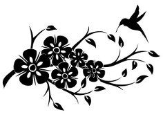 трафареты бабочки , цветы и не много кошек ))
