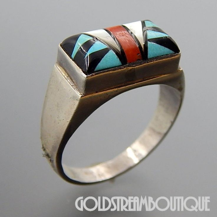 Native American A Begaye sterling ring Sterling silver handmade band 925 statement ring Size 7 stamped Sterling A Begaye