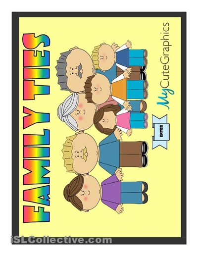 PPT comprising elementary multiple choice activity on basic vocabulary for family members.