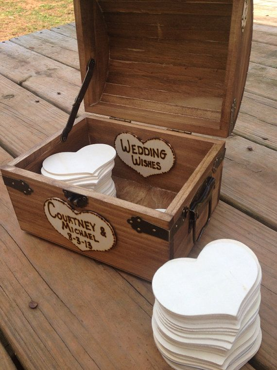Personalized Rustic Wedding Wood Chest - Guest Book Alternative - Shabby Shic Wedding - Set for 100 Guests on Etsy, $80.10 AUD