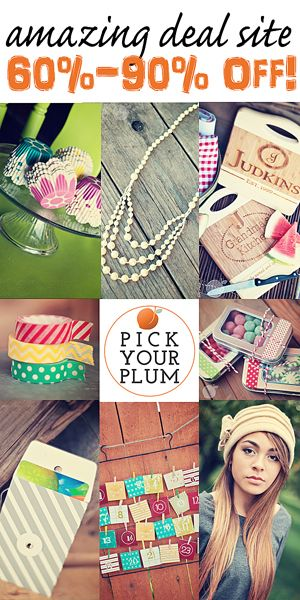 PickYourPlum.com has some of the sweetest stuff for their daily deals! You really don't want to miss this!