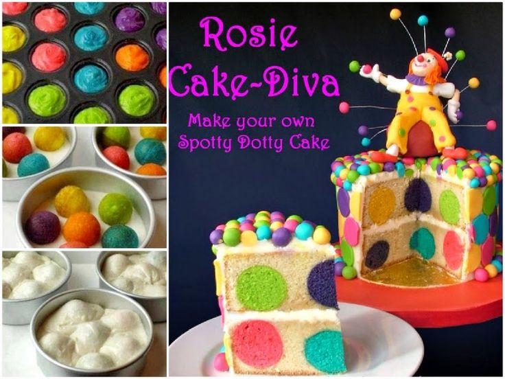 How to make spotty dotty cake