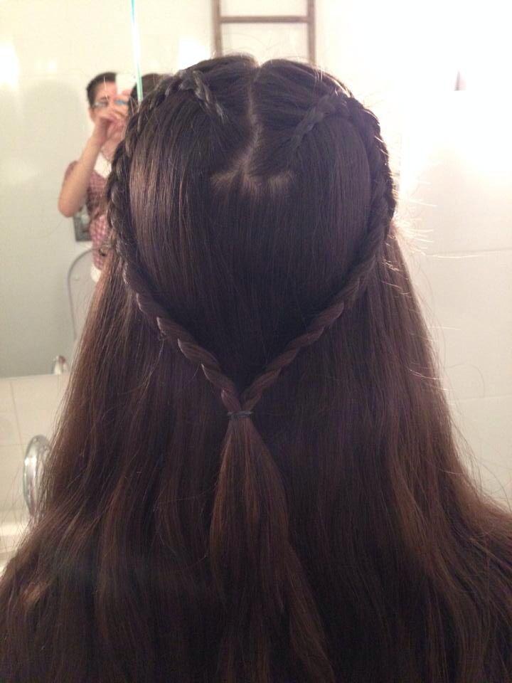 Love heart Dutch braid